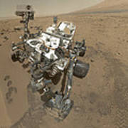 Self-portrait Of Curiosity Rover Poster by Stocktrek Images