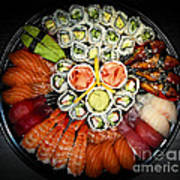 Sushi Party Tray Poster by Elena Elisseeva