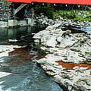 Taftsville Covered Bridge Vermont Poster by Edward Fielding