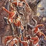 The 5th Division Storming By Escalade Poster by William Barnes Wollen