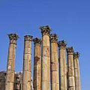The Temple Of Artemis At Jerash Jordan Poster by Robert Preston