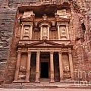 The Treasury In Petra Jordan Poster by Robert Preston