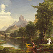 The Voyage Of Life Youth Poster by Thomas Cole