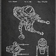 Toy Space Vehicle Patent Poster by Aged Pixel