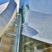 Walt Disney Concert Hall Vertical Los Angeles Ca Poster by David Zanzinger