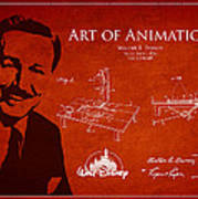 Walt Disney Patent From 1936 Poster by Aged Pixel