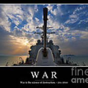 War Inspirational Quote Poster by Stocktrek Images