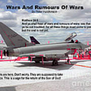Wars And Rumours Of Wars Poster by Bible Verse Pictures