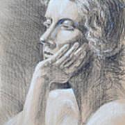 Woman Head Study Poster by Irina Sztukowski