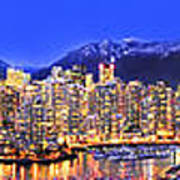 Vancouver Skyline Panorama Poster by Wesley Allen Shaw