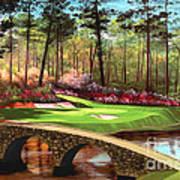 12th Hole At Augusta  Poster by Tim Gilliland