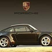 Porsche 911 3.2 Carrera 964 Turbo Poster by Ganesh Krishnan