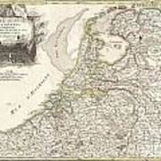 1775 Janvier Map Of Holland And Belgium Poster by Paul Fearn