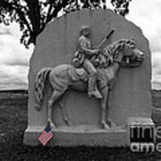 17th Pennsylvania Cavalry Monument Gettysburg Poster by James Brunker