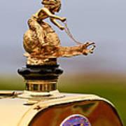 1911 Fiat Tipo 6 Holbrook 4 Passenger Demi-tonneau Hood Ornament Poster by Jill Reger