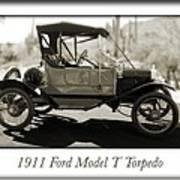 1911 Ford Model T Torpedo Poster by Jill Reger