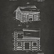 1920 Lincoln Logs Patent Artwork - Gray Poster by Nikki Marie Smith