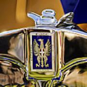 1929 Bianchi S8 Graber Cabriolet Hood Ornament And Emblem Poster by Jill Reger