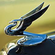 1935 Chevrolet Sedan Hood Ornament 2 Poster by Jill Reger