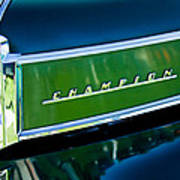 1941 Sudebaker Champion Coupe Emblem Poster by Jill Reger