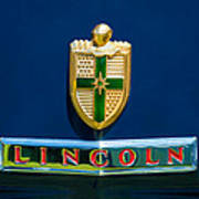 1942 Lincoln Continental Cabriolet Emblem Poster by Jill Reger