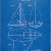 1948 Sailboat Patent Artwork - Blueprint Poster by Nikki Marie Smith
