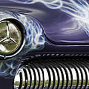 1949 Mercury Eight Hot Rod Poster by Tim Gainey