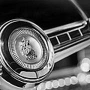 1949 Plymouth P-18 Special Deluxe Convertible Steering Wheel Emblem Poster by Jill Reger