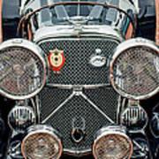 1950 Jaguar Xk120 Roadster Grille Poster by Jill Reger