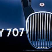 1951 Jaguar Proteus C-type Grille Emblem 3 Poster by Jill Reger