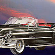1953  Cadillac El Dorardo Convertible Poster by Jack Pumphrey