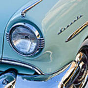 1954 Lincoln Capri Headlight Poster by Jill Reger