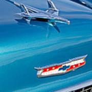 1955 Chevrolet Belair Hood Ornament 7 Poster by Jill Reger