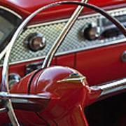 1955 Chevrolet Belair Nomad Steering Wheel Poster by Jill Reger