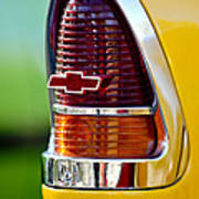 1955 Chevrolet Taillight Emblem Poster by Jill Reger