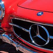 1955 Mercedes-benz 300sl Gullwing Grille Emblems Poster by Jill Reger