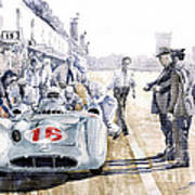 1955 Mercedes Benz W 196 Str Stirling Moss Italian Gp Monza Poster by Yuriy  Shevchuk