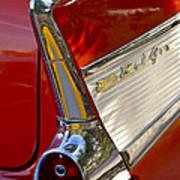 1957 Chevrolet Belair Taillight Poster by Jill Reger