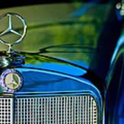 1960 Mercedes-benz 220 Se Convertible Hood Ornament Poster by Jill Reger