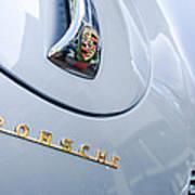 1960 Porsche 356 B 1600 Super Roadster Hood Emblem Poster by Jill Reger