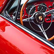 1964 Porsche 356 Carrera 2 Steering Wheel Poster by Jill Reger