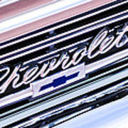 1966 Chevrolet Biscayne Front Grille Poster by Jill Reger