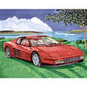 1987 Ferrari Testarosa Poster by Jack Pumphrey