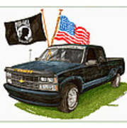 1988 Chevrolet M I A Tribute Poster by Jack Pumphrey