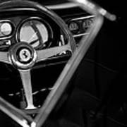 1967 Ferrari 275 Gtb 4 Steering Wheel Emblem Poster by Jill Reger