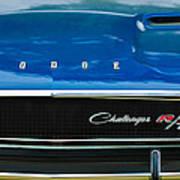 1970 Dodge Challenger Rt Convertible Grille Emblem Poster by Jill Reger