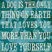 A Dog Poster by Debbie DeWitt