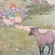 Baa Baa Black Sheep Poster by Leonard Leslie Brooke