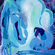 Blue Nude Poster by Diane Fine