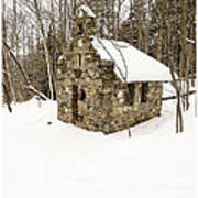 Chapel In The Woods Stowe Vermont Poster by Edward Fielding